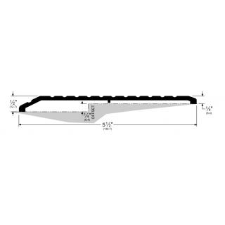 "Pemko 158 Offset Saddle Threshold - 5 1/2"" by 1/4"", Mill Aluminum or Dark Bronze Finish"