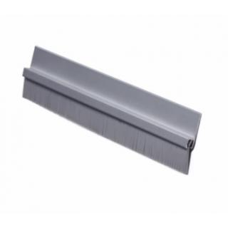 "Pemko 18061CNB Brush Door Sweep, 3/4"" Clear Aluminum Channel, 5/8"" Nylon Brush"
