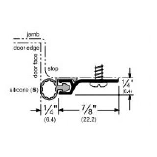 Pemko 303AS Silicone Perimeter Door Seal Kit, Aluminum Channel