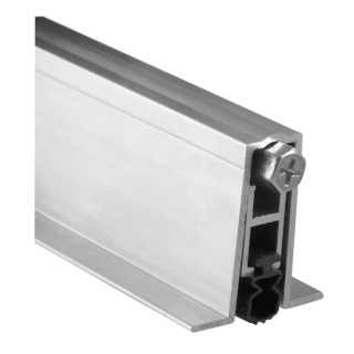 Pemko 411ARL Full Mortise Automatic Door Bottom, Mill Finish Aluminum