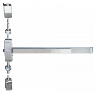 Cal-Royal 9860V Series Grade 1 Surface Vertical Rod Exit Device