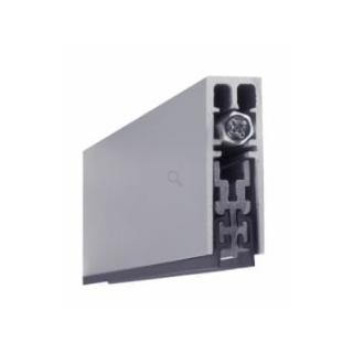 Pemko 4131CRL Surface and Semi-Mortise Automatic Door Bottom, Clear Anodized Aluminum