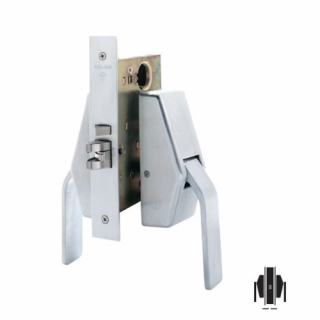 Schlage HL6-9010 Mortise Passage Hospital Push/Pull Latch