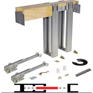 "Johnson 1500SC Series Soft-Close Pocket Door Frame Kit 42"" - 153680SC"
