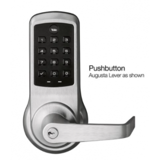 Yale NTB610-NR nexTouch Cylindrical Lever Lock wPushbutton Keypad - Cylinder Override