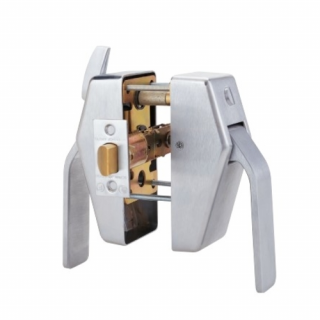 Schlage PL8 Tubular Privacy Hospital Push/Pull Latch- Pull-side Thumbturn