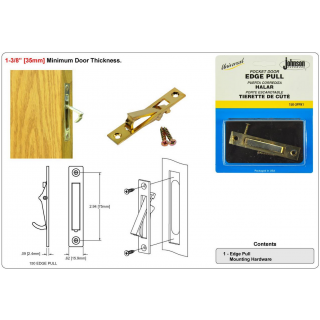 Johnson 150-3PK1 US3 Bright Brass Edge Pull