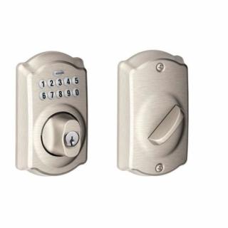 Schlage BE365 Camelot Residential Pushbutton Keypad Deadbolt