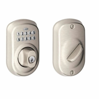 Schlage BE365 Plymouth Residential Pushbutton Keypad Deadbolt
