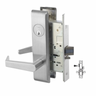 Yale 8809FL Classroom or Office Mortise Lever Lock