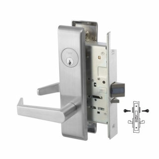 Yale 8818-2FL Classroom Security Intruder Mortise Lever Lock