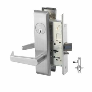 Yale 8824FL Holdback Mortise Lever Lock