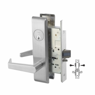 Yale 8830-2FL Asylum or Institutional Mortise Lever Lock