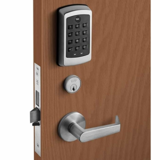 Yale NTM610-NR NexTouch Pushbutton Sectional Mortise Lock- with Key Override, no Deadbolt