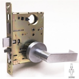 Cal-Royal NM8445 Privacy Mortise Lock with Deadbolt, Coin Turn Outside and Occupancy Indicator