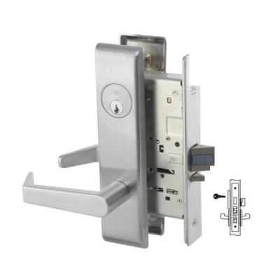Yale 8827FL Hotel/Motel Mortise Lever Lock