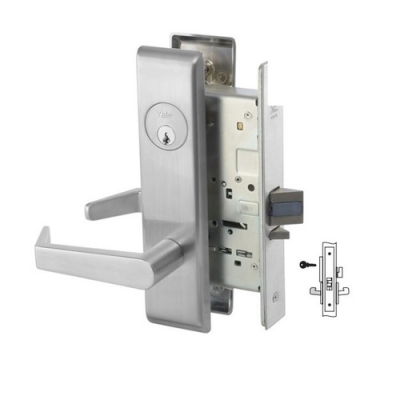 Yale 8864FL Bathroom Mortise Lever Lock with Indicator